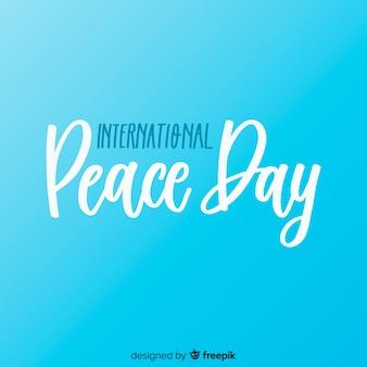 Concept de la journée de la paix internationale