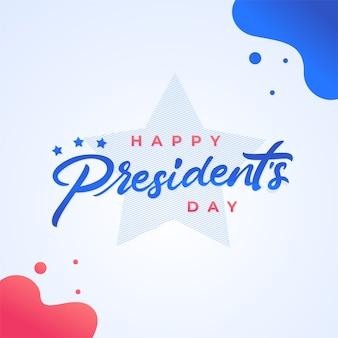 Concept de journée des présidents heureux avec lettrage