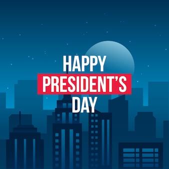 Concept de la journée des présidents heureux