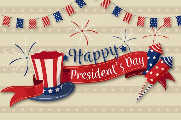 Concept de la journée des présidents vintage