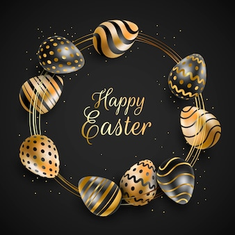 Concept de joyeuses fêtes de pâques