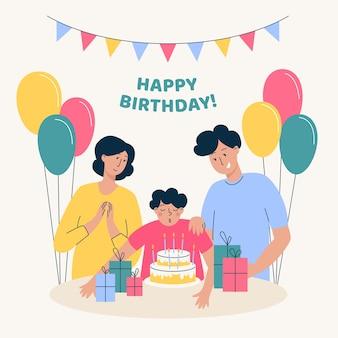 Concept de joyeux anniversaire