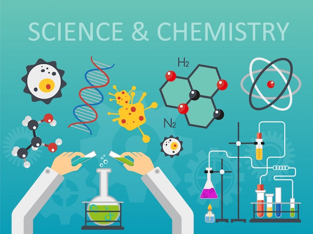 Concept de laboratoire de sciences chimiques