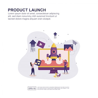 Concept de lancement de produit