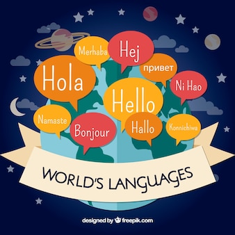 Concept de langues avec un design plat