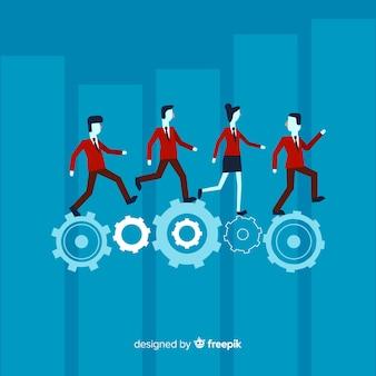 Concept de leadership au design plat