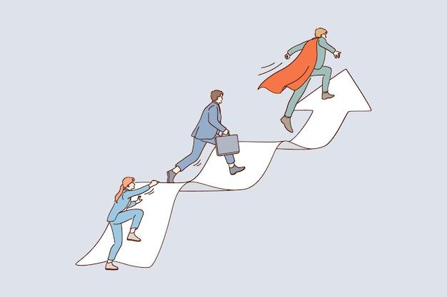 Concept de leadership et d'échelle de carrière