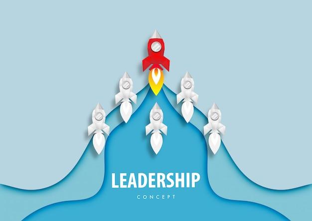 Concept de leadership de fusée