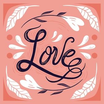 Concept de lettrage d'amour