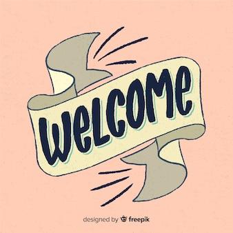 Concept de lettrage de bienvenue