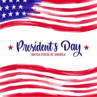 Concept de lettrage du jour du président