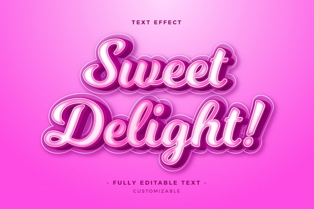 Concept de lettrage effet texte
