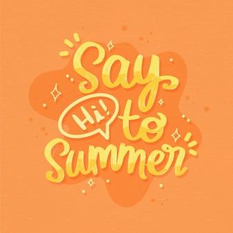 Concept de lettrage d'été