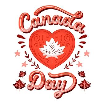 Concept de lettrage de la fête du canada