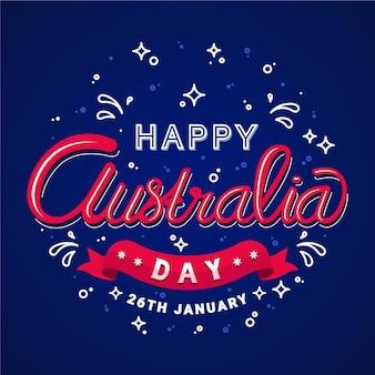 Concept de lettrage de jour australie