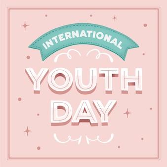 Concept de lettrage de la journée de la jeunesse