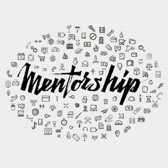 Concept de lettrage de mentorat
