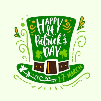 Concept de lettrage pour st. patricks day