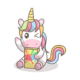 Concept de licorne mignon