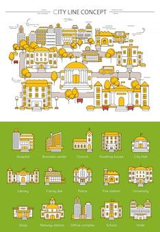 Concept de ligne de bâtiment