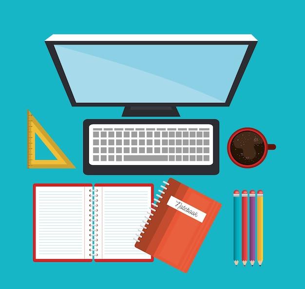 Concept en ligne éducation