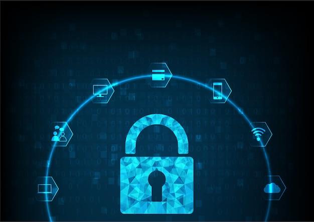 Concept en ligne de sécurité internet: cadenas avec trou de serrure.