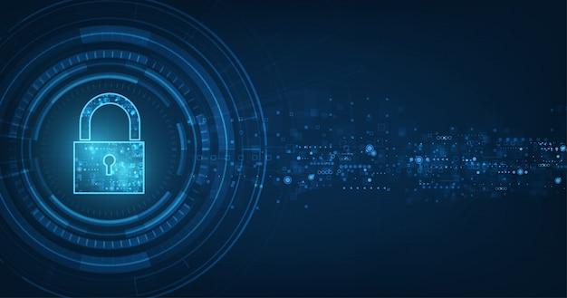 Concept en ligne de sécurité internet.