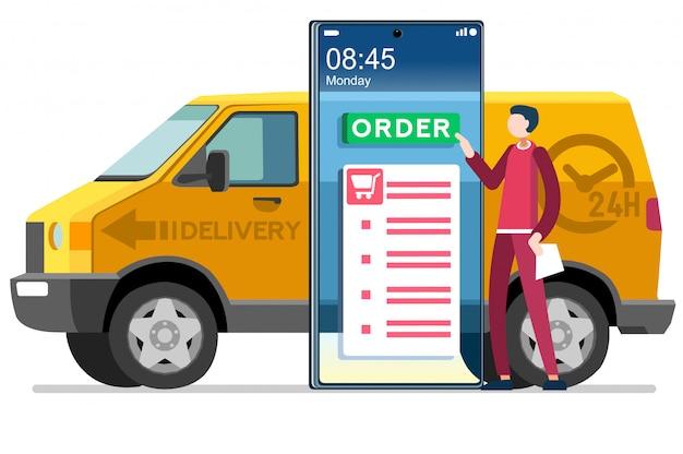 Concept de livraison à domicile symbole courrier