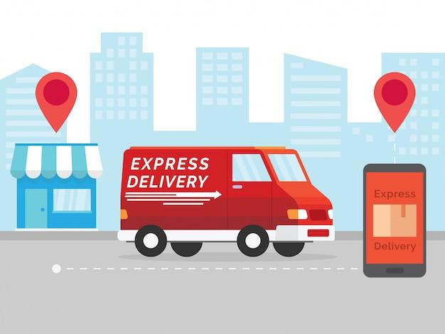Concept de livraison express
