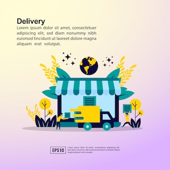 Concept de livraison en ligne