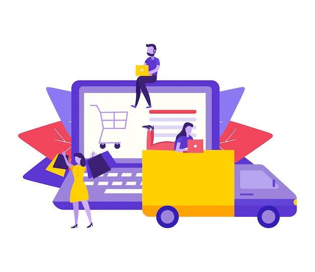 Concept de livraison en ligne.