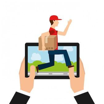 Concept de livraison logistique