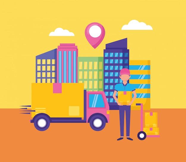 Concept de livraison rapide