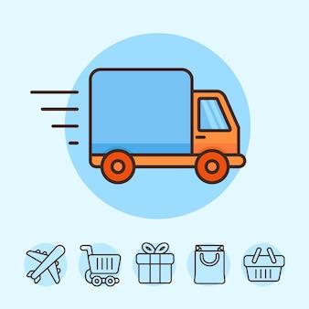 Concept de livraison de vecteur