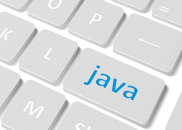 Concept de logiciel. clavier d'ordinateur de bouton