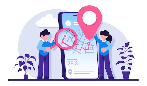 Concept de logiciel de suivi mobile expédition et livraison de suivi de commande en ligne