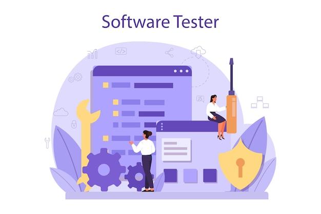 Concept de logiciel de test.