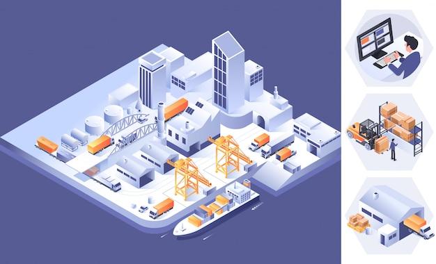 Concept de logistique et de transport intelligent