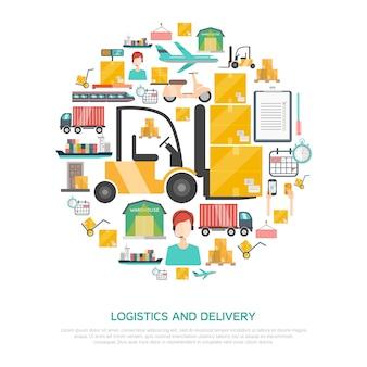 Concept de logistique et de transport