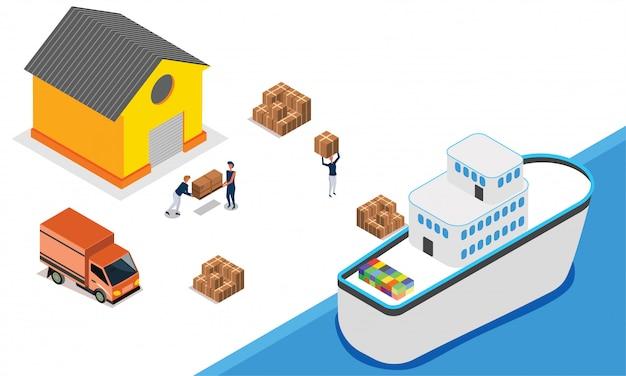 Concept de logistique ou de transport.