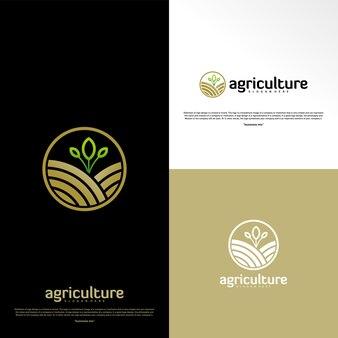 Concept de logo de l'agriculture. modèle de conception de nature farm logo vector. symbole d'icône