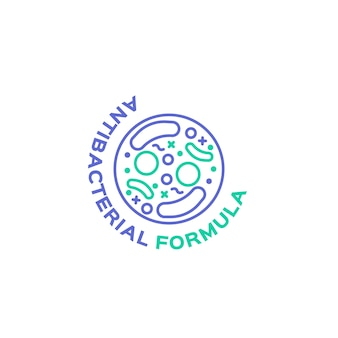 Concept de logo antibactérien