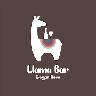 Concept de logo de bar de lama pour la conception de nourriture et de boisson