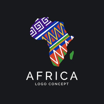 Concept de logo carte afrique