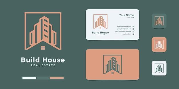 Concept de logo de construction avec un modèle de conception de logo vectoriel premium de style unique et créatif.