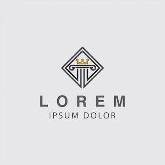 Concept de logo et couronne