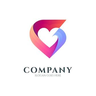 Concept de logo créatif de lettre d'amour g