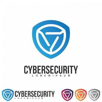 Concept de logo de cybersécurité