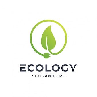 Concept de logo écologie.