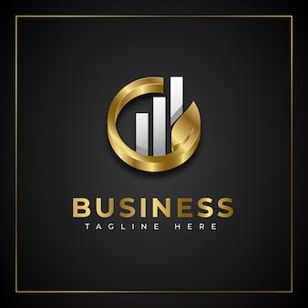 Concept de logo d'entreprise en croissance